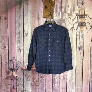 Pendleton Wool button up flannel Large BH1